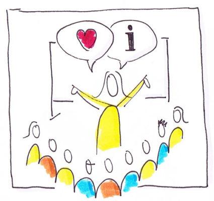 LICHTBLICK Kommunizieren mit Herz - Grafik