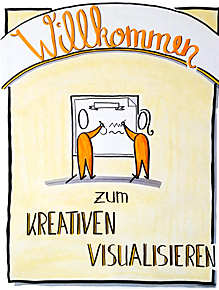 Grafik Willkommen zur Weiterbildung Kreatives Visualisieren