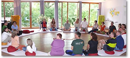 Lichtblick-Foto Das Rad des Lebens - Teilnehmer-Sitzkreis