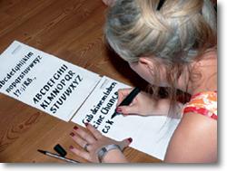 Lichtblick Trainer-Ausbildung Foto Schriftübung